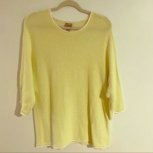 Chico's yellow chartreuse dolman sweater